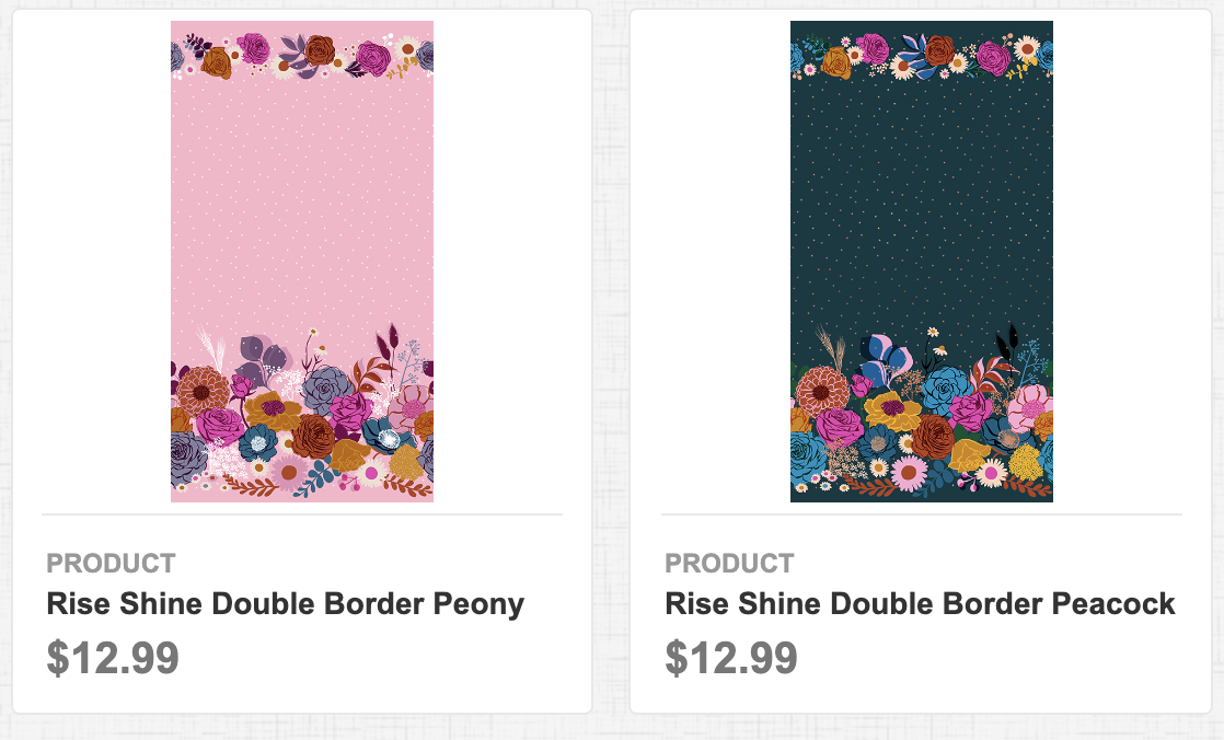 Rise Shine Double Border Peony & Peacock