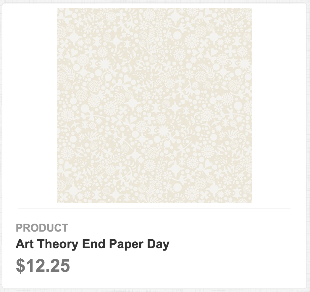 Art Theory End Paper Day