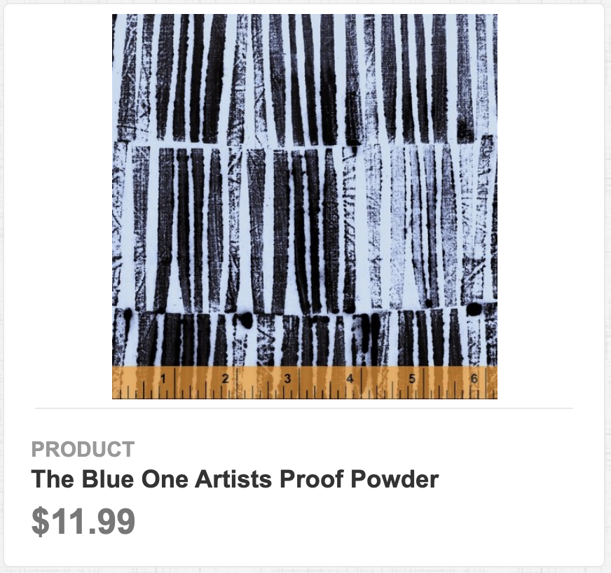 The Blue One Artists Proof Powder