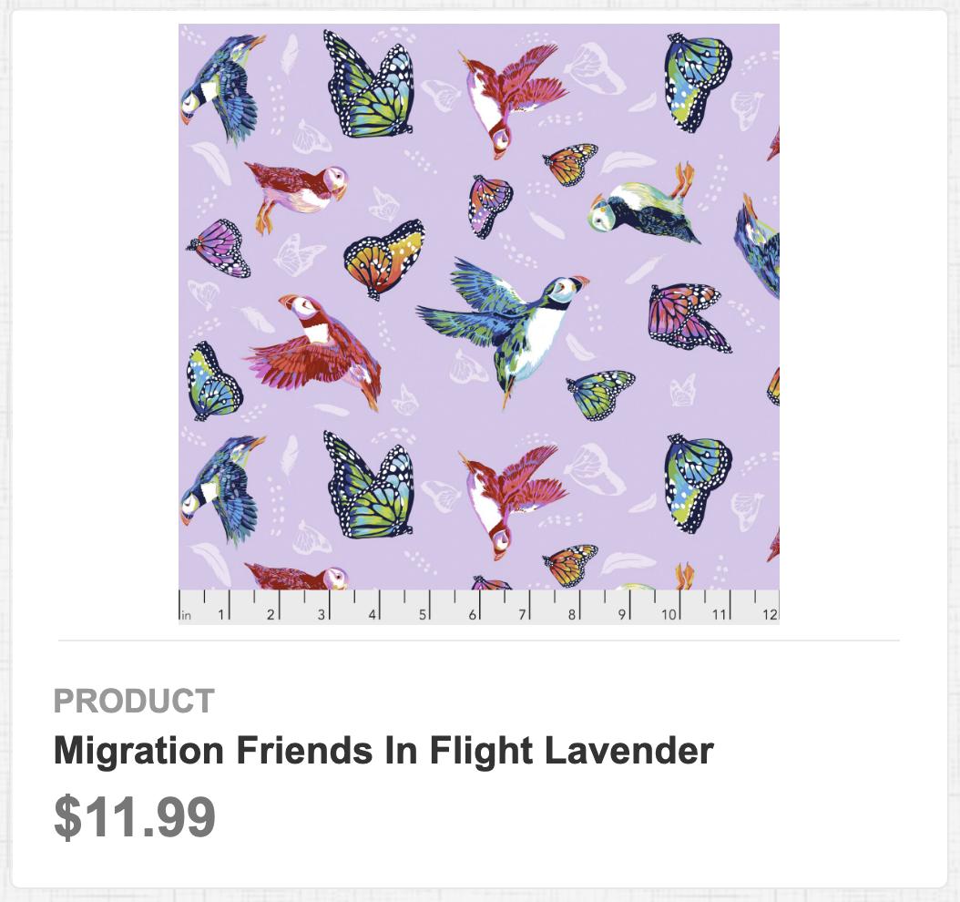 Migration Friends in Flight Lavendar