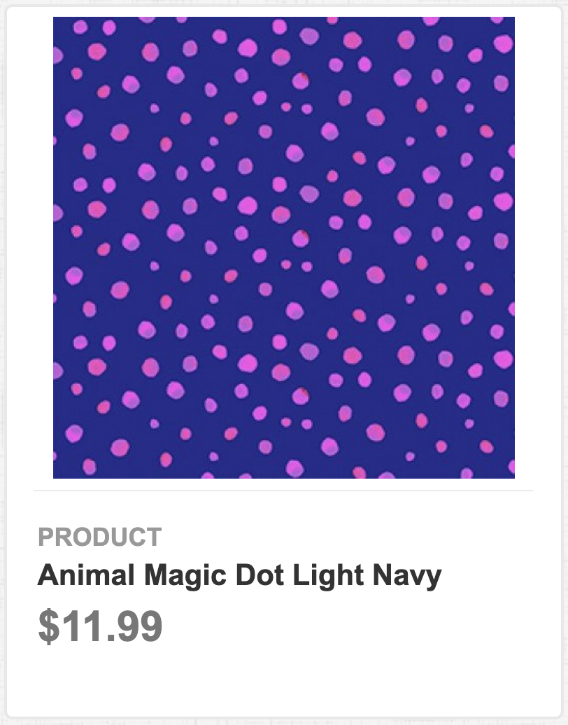 Animal Magic Dot Light Navy