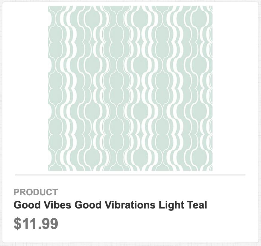 Good Vibes Good Vibrations Light Teal