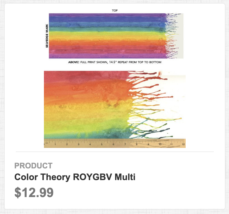 Color Theory ROYGBV Multi