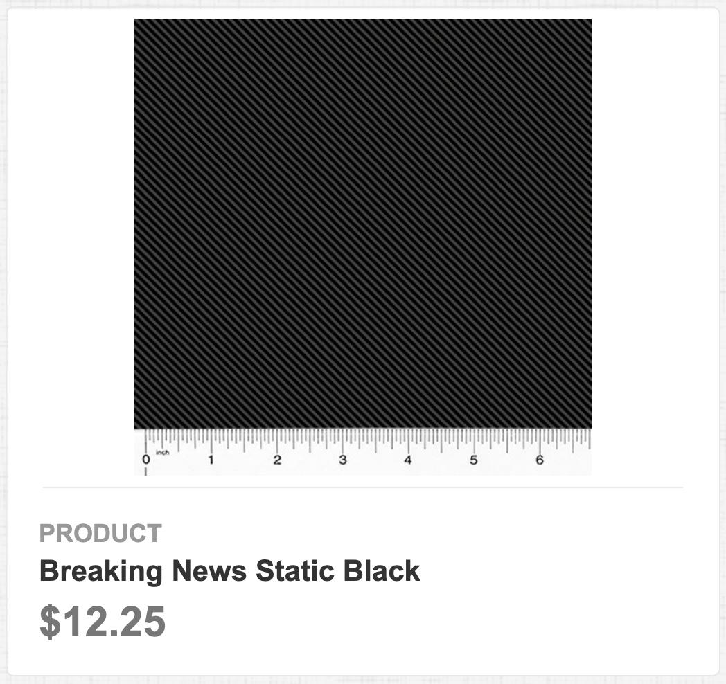 Breaking News Static Black