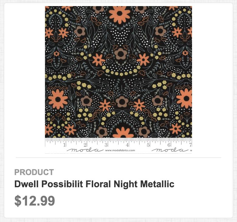 Dwell Possibility Floral Night Metallic