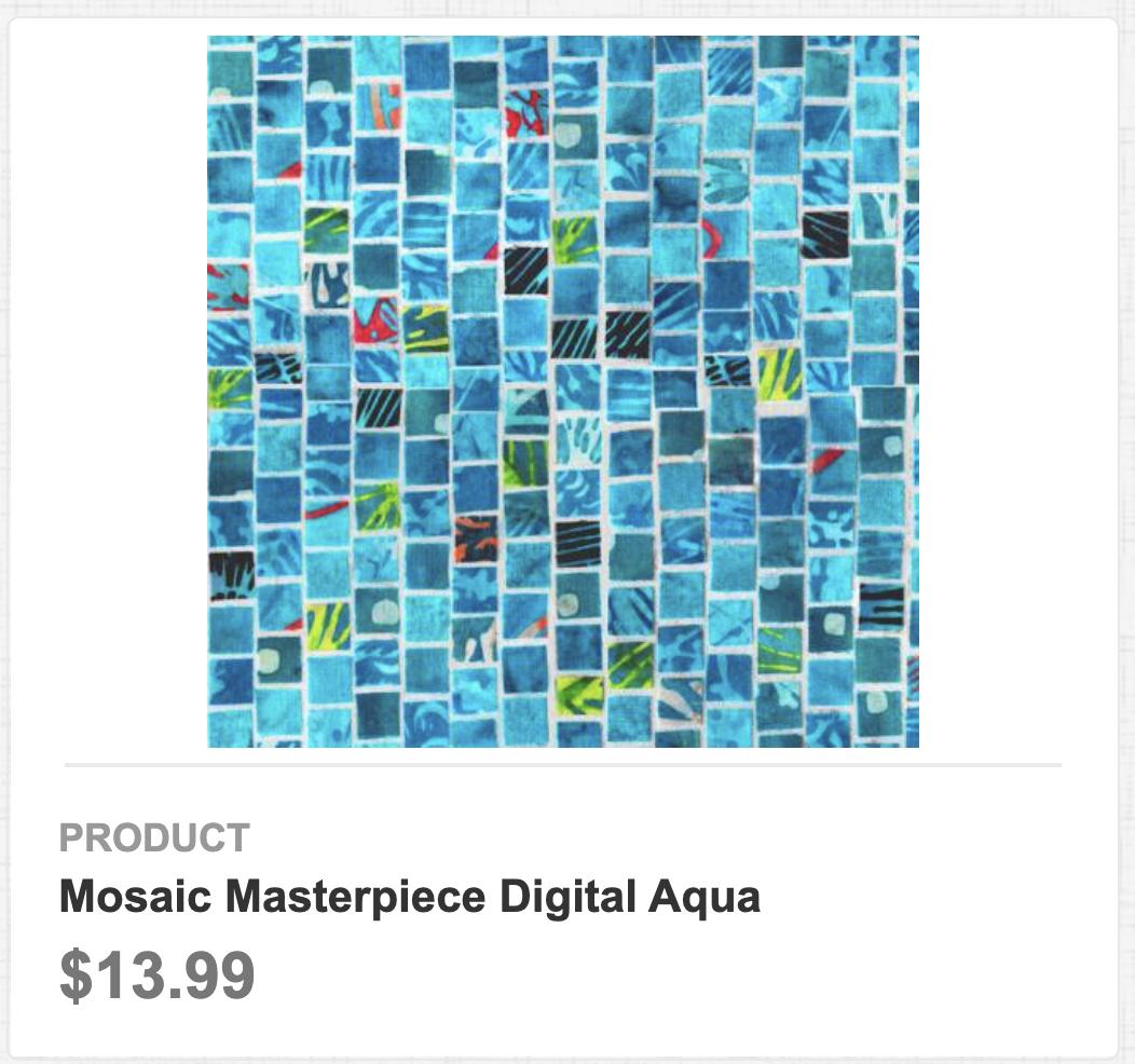 Mosaic Masterpiece Digital Aqua