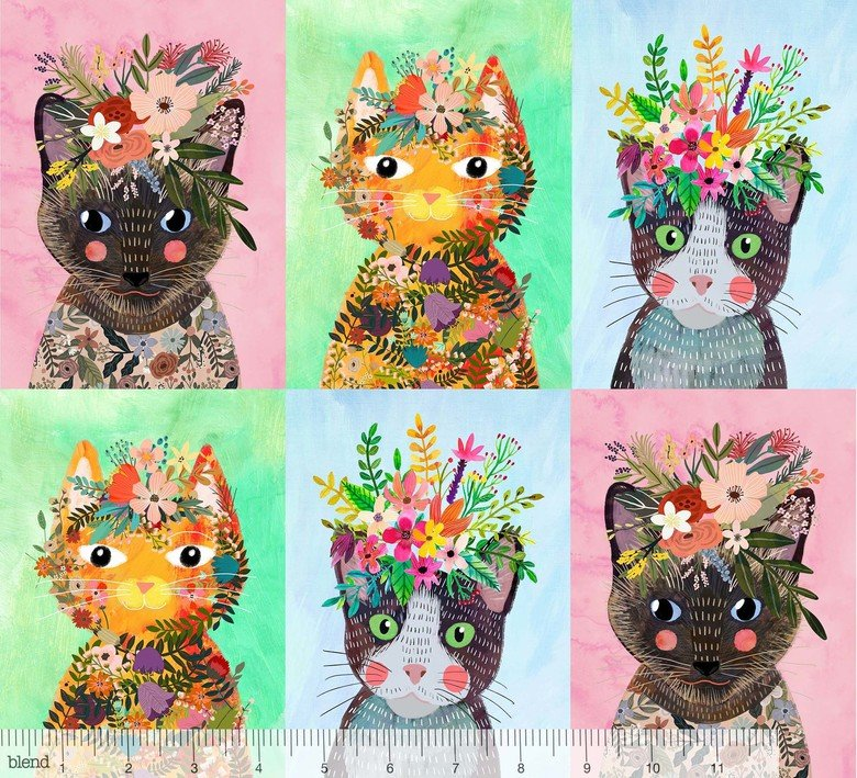 Floral Pets More Kitties