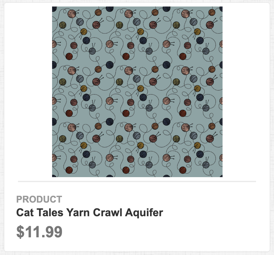 Cat Tales Yarn Crawl Aquifer