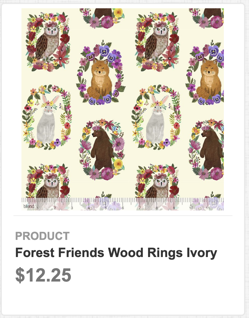 Forest Friends Wood Rings Ivory