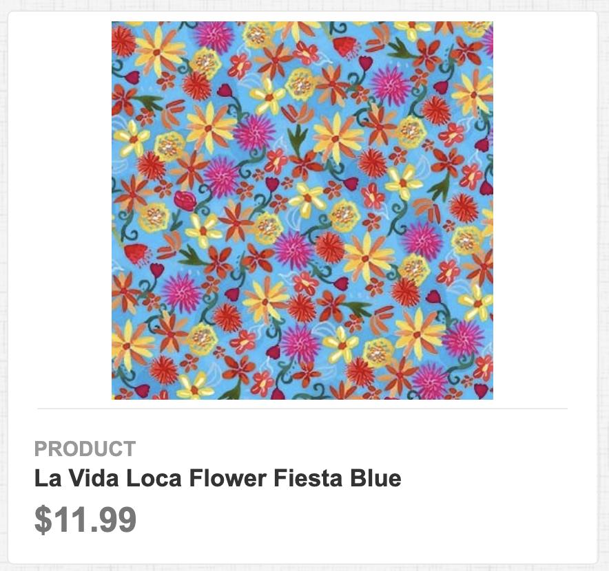 La Vida Loca Flower Fiesta Blue