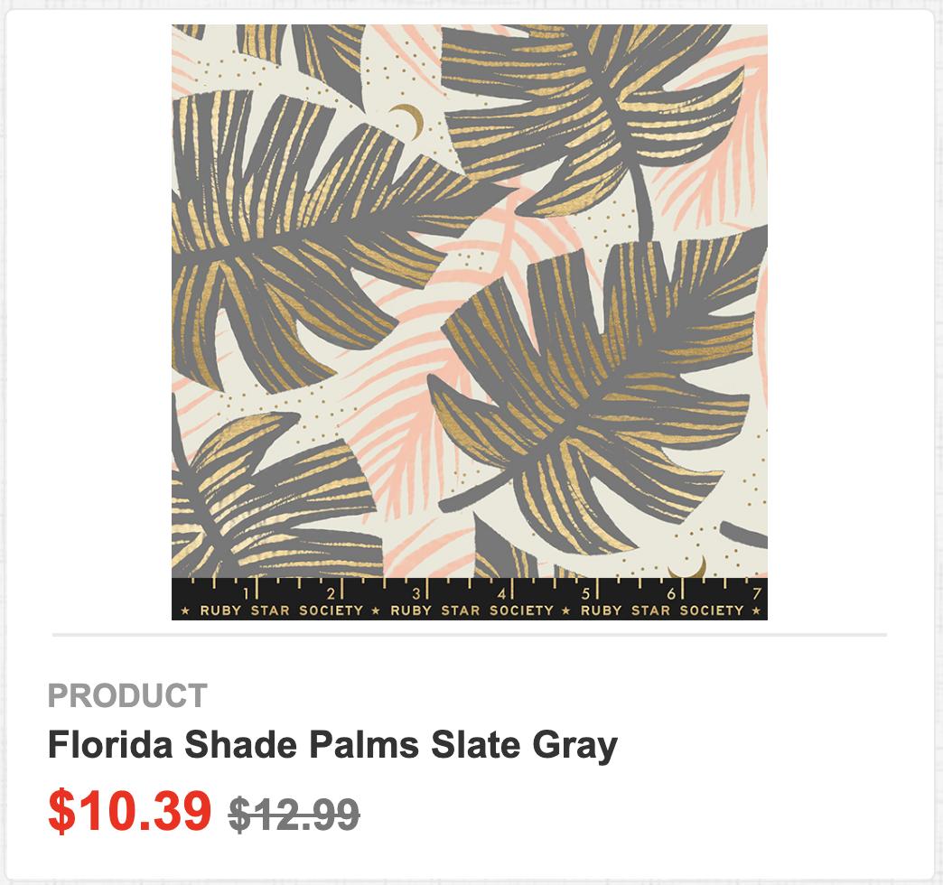 Florida Shade Palms Slate Gray