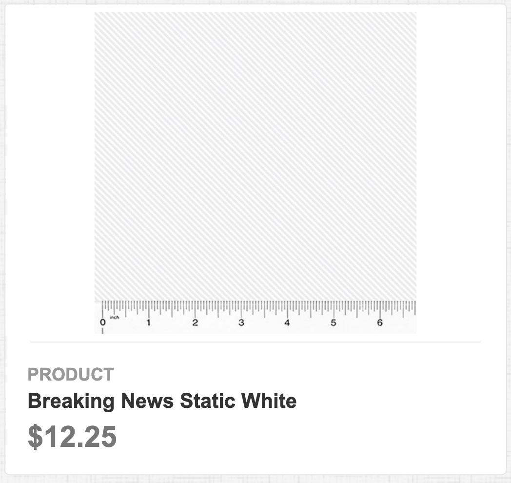 Breaking News Static White