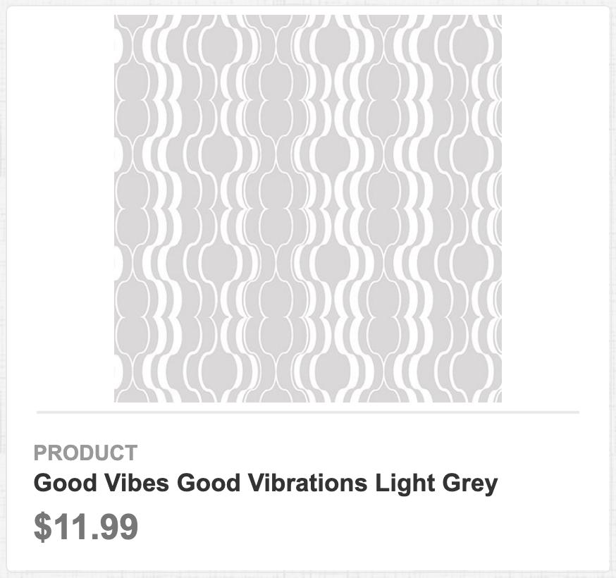 Good Vibes Good Vibrations Light Grey