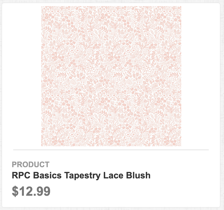 RPC Basics Tapestry Lace Blush