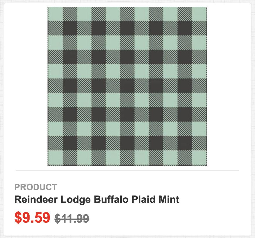 Reindeer Lodge Buffalo Plaid Mint