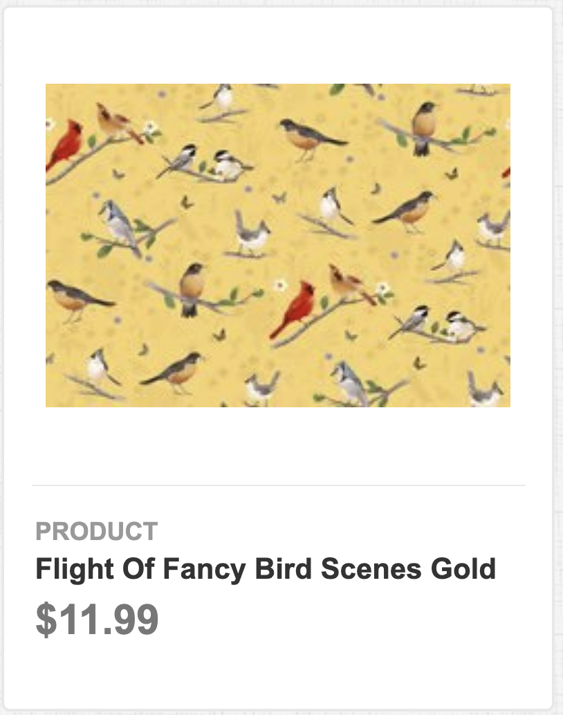 Flight of Fancy Bird Scenes Gold