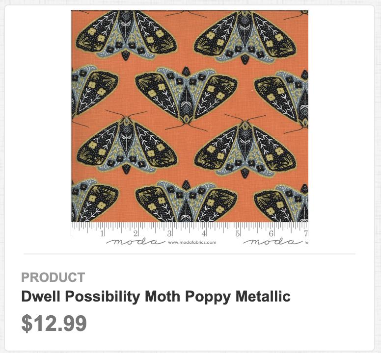 Dwell Possibility Moth Poppy Metallic
