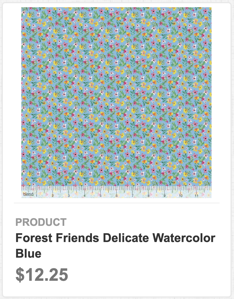 Forest Friends Delicate Watercolor Blue