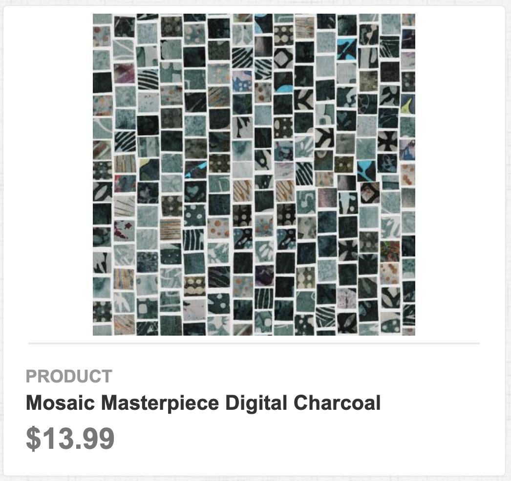 Mosaic Masterpiece Digital Charcoal