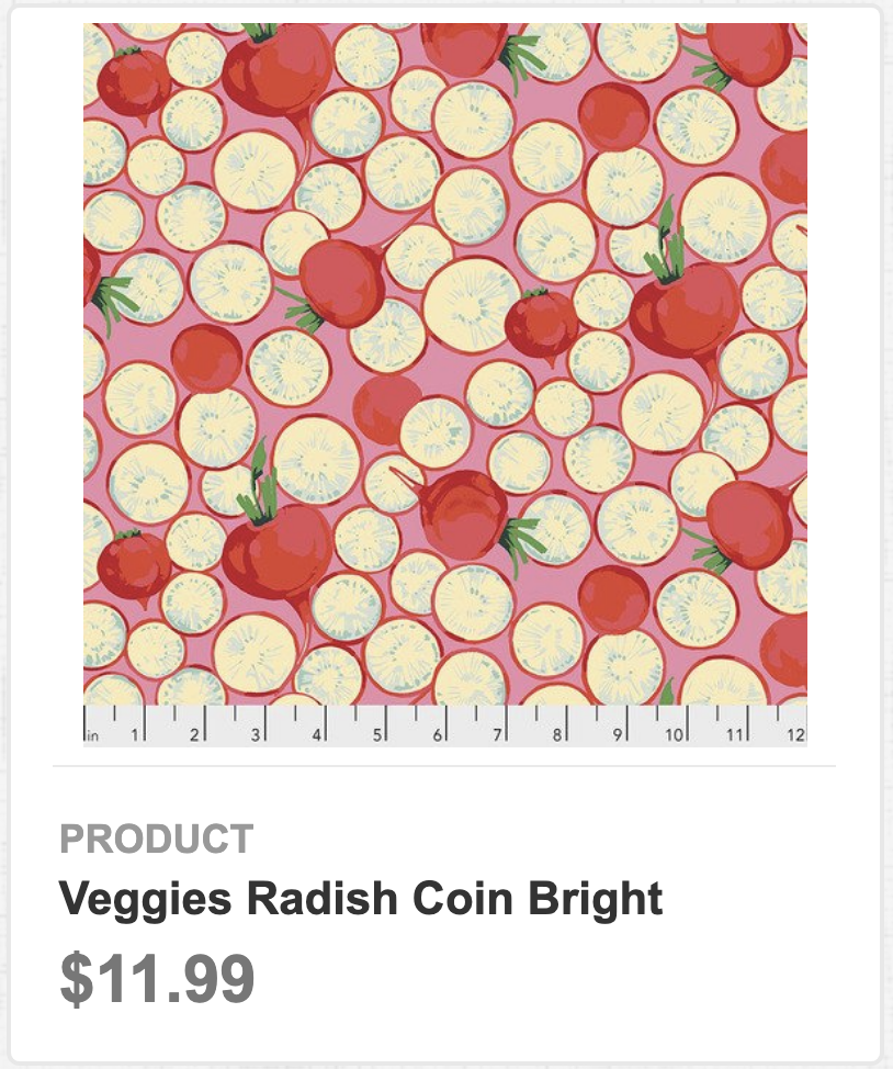 Veggies Radish Coin Bright
