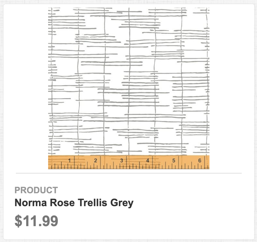 Norma Rose Trellis Grey