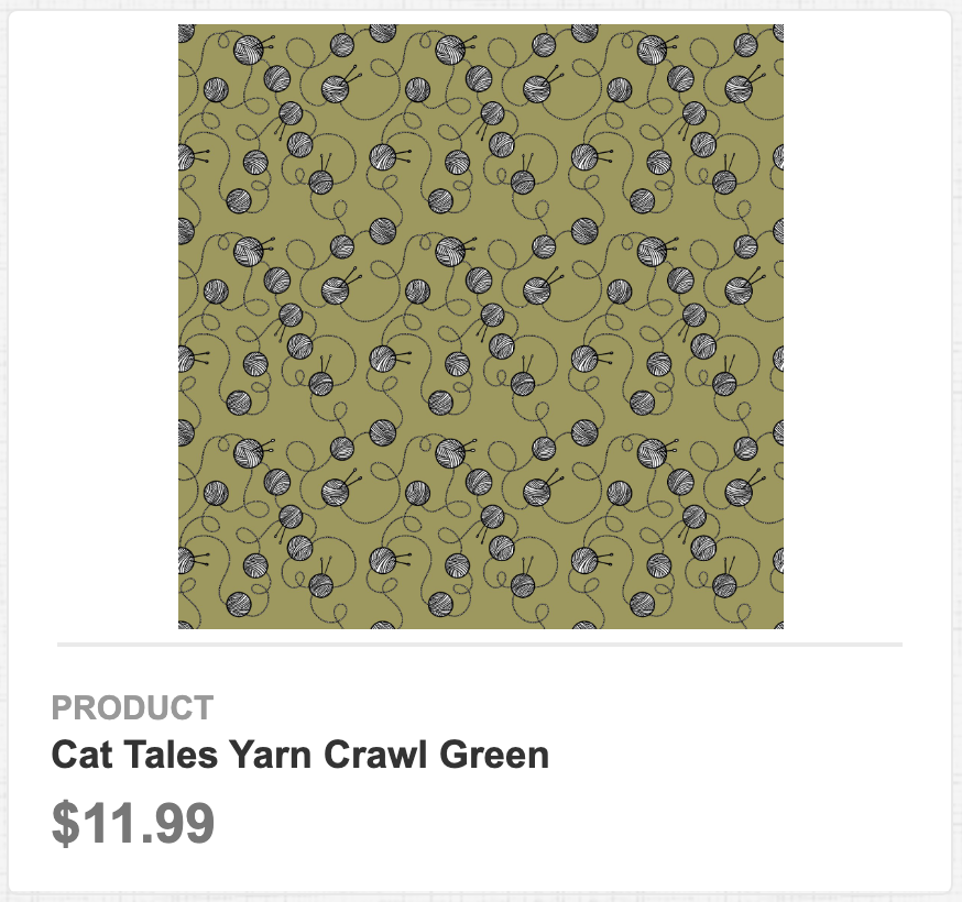 Cat Tales Yarn Crawl Green