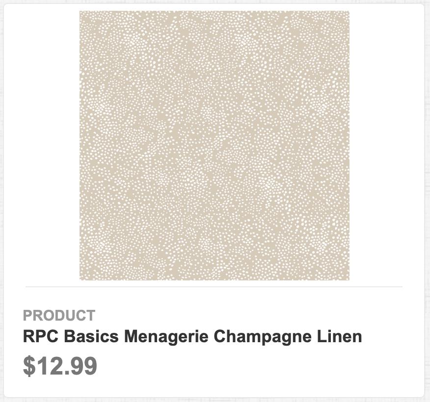 RPC Basics Menagerie Champagne Linen