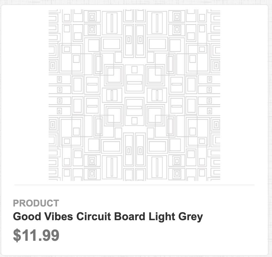 Good Vibes Circuit Board Light Grey