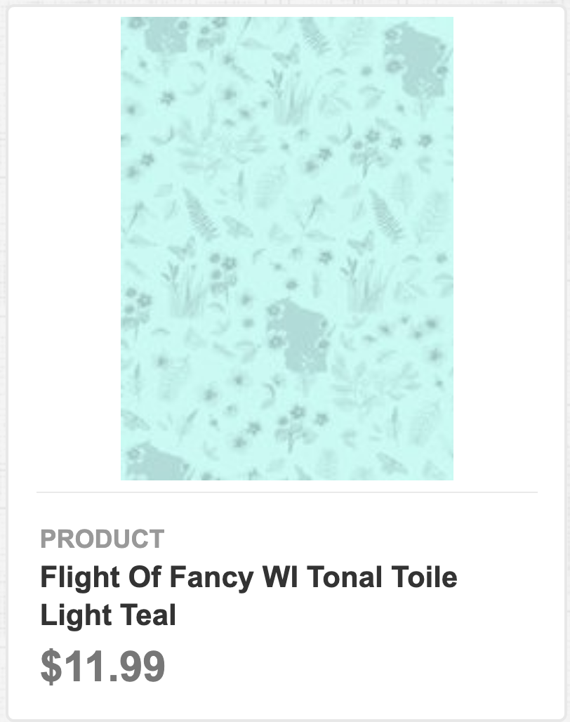 Flight of Fancy WI Tonal Toile Light Teal