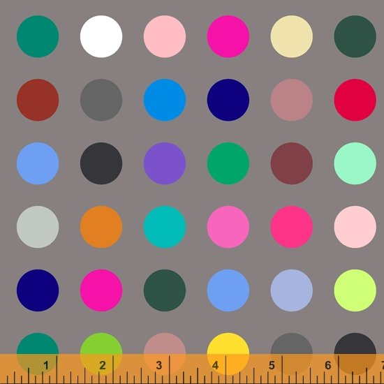 "Many Colored Dots Digital 108"" Grey/Multi"