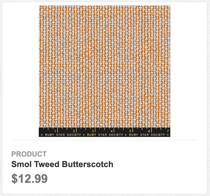 Smol Tweed Butterscotch