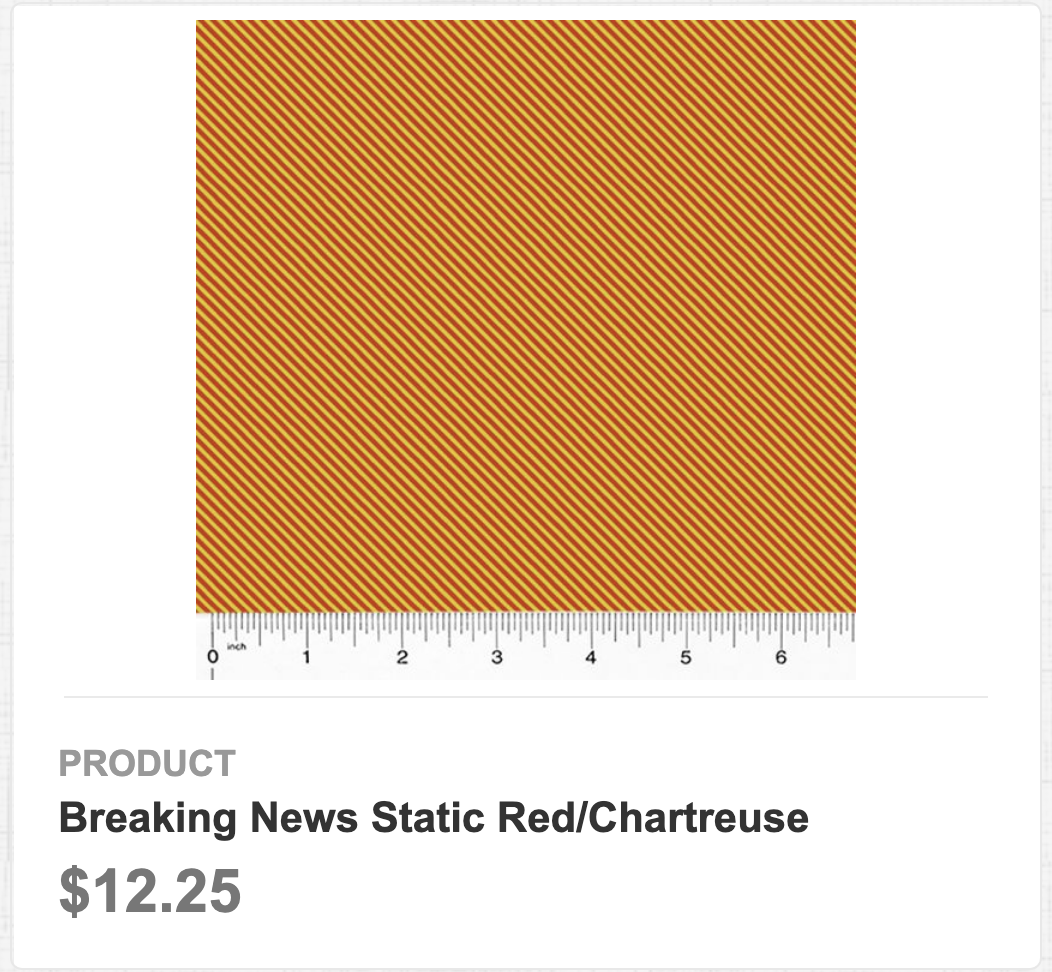 Breaking News Static Red/Chartreuse