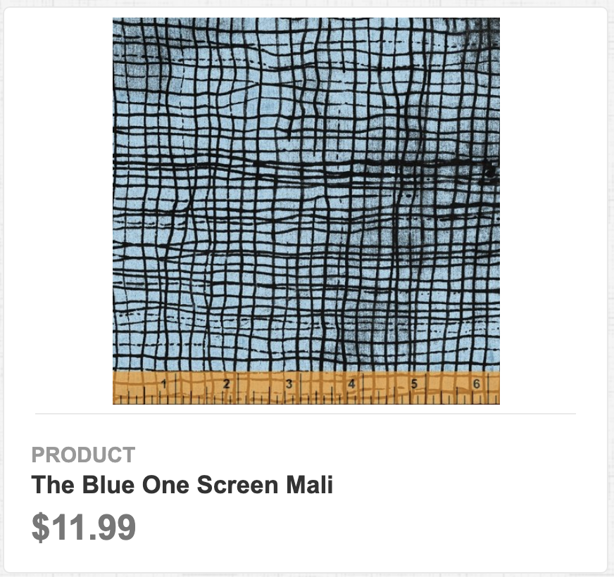 The Blue One Screen Mali