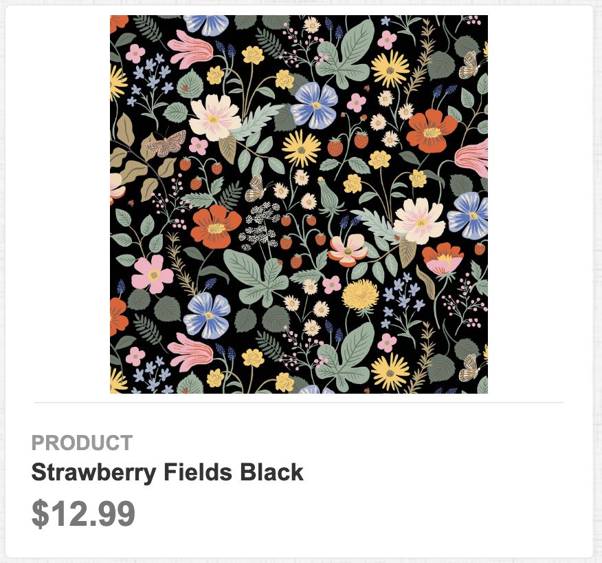 Strawberry Fields Black