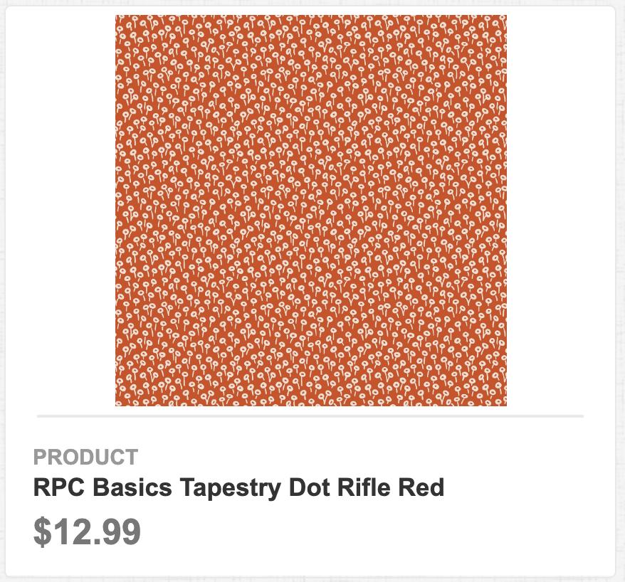 RPC Basics Tapestry Dot Rifle Red