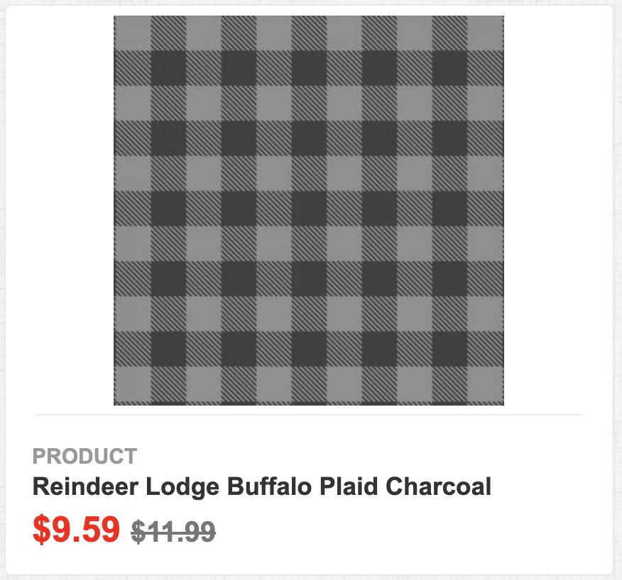 Reindeer Lodge Buffalo Plaid Charcoal