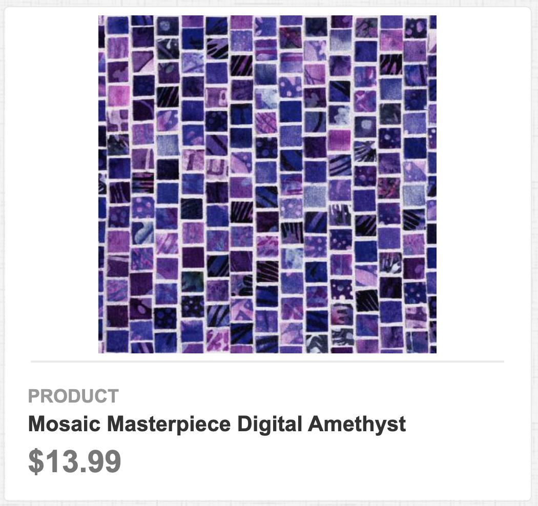 Mosaic Masterpiece Digital Amethyst