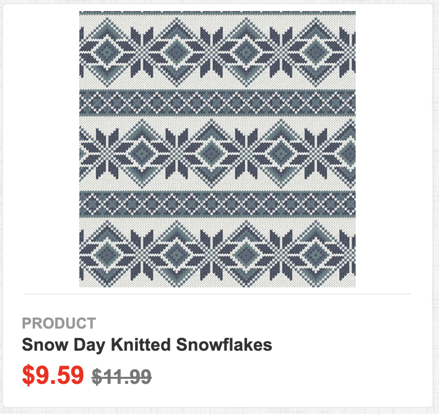 Snow Day Knitted Snowflakes