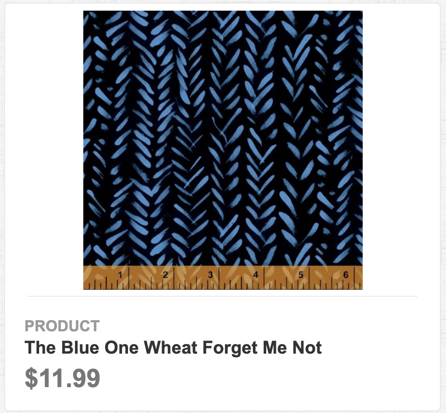 The Blue One Wheat Forget Me Not