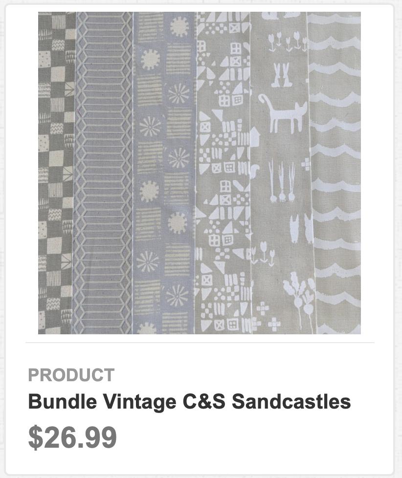 Bundle Vintage C&S Sandcastles