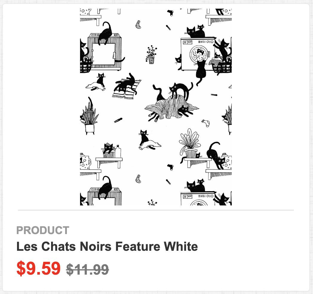 Les Chats Noirs Feature White
