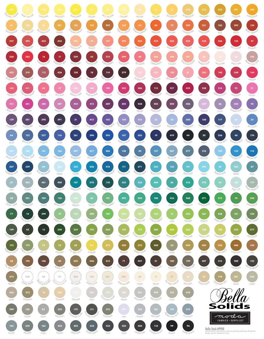 My Favorite Color is Moda Panel Multi