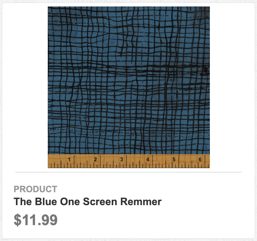 The Blue One Screen Remmer