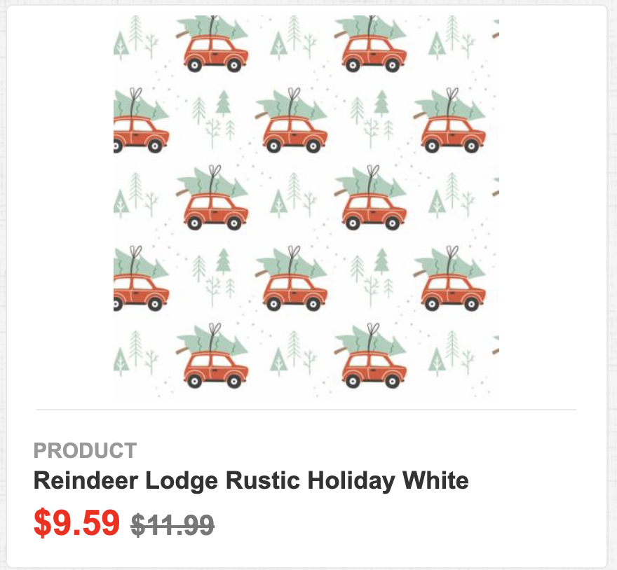 Reindeer Lodge Rustic Holiday White
