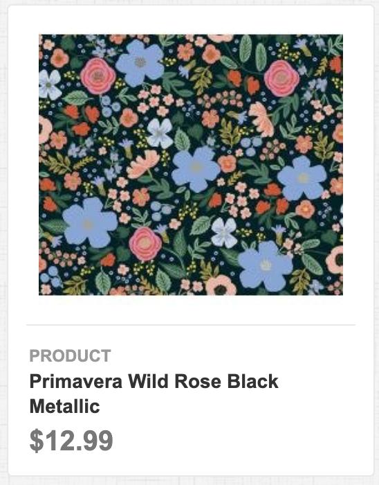 Primavera Wild Rose Black Metallic