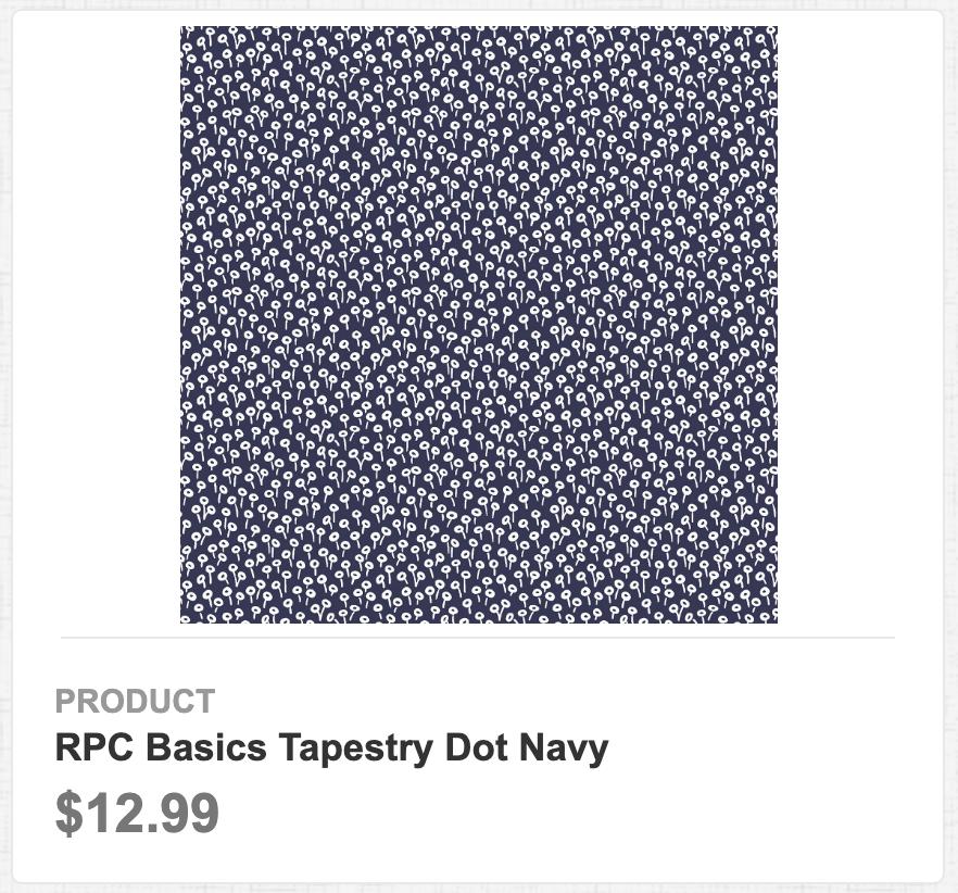 RPC Basics Tapestry Dot Navy