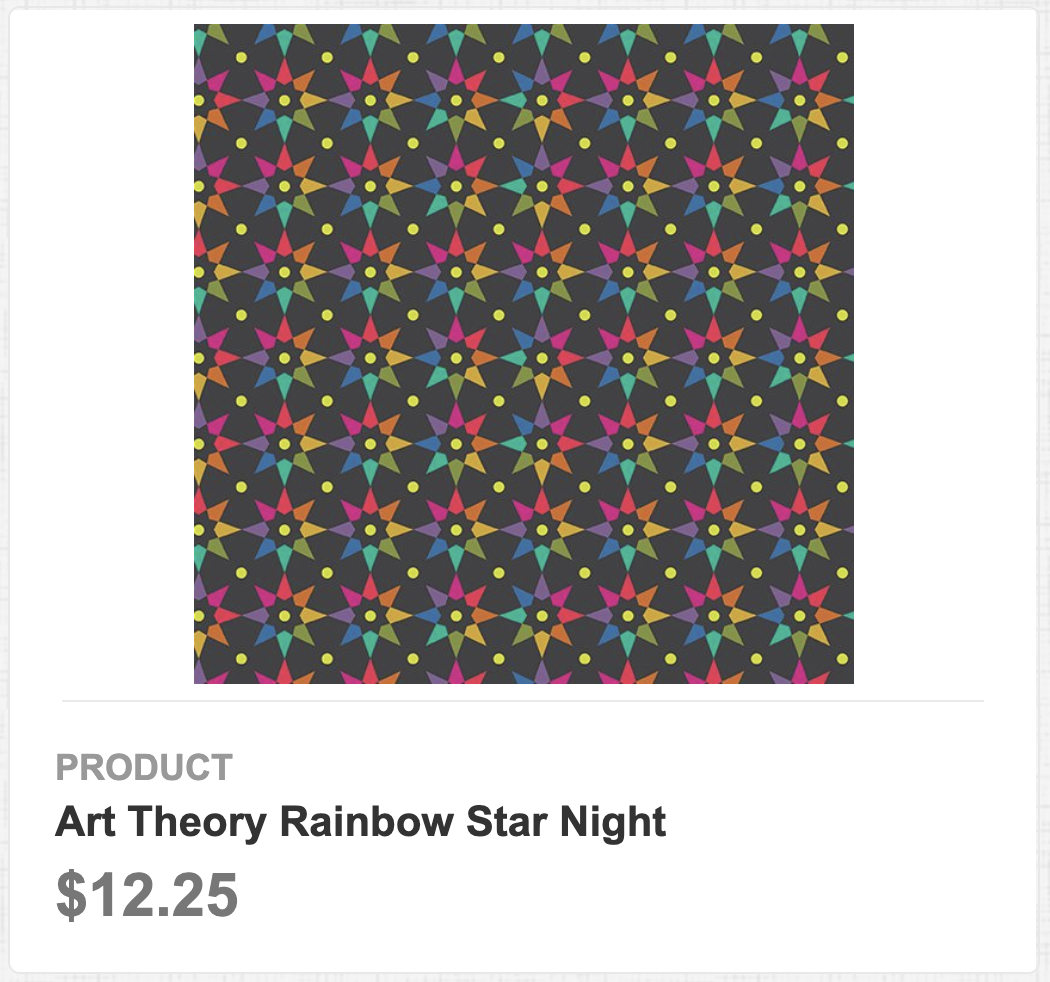 Art Theory Rainbow Star Night