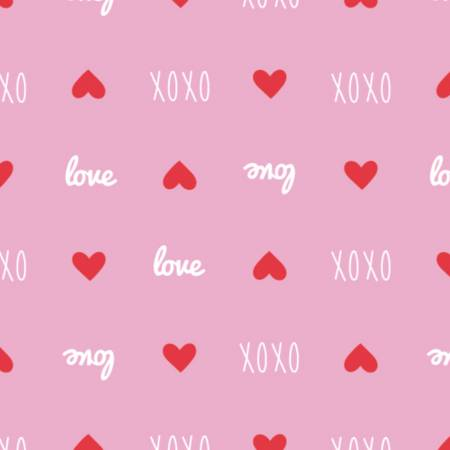 XOXO Sweet Messages Pink
