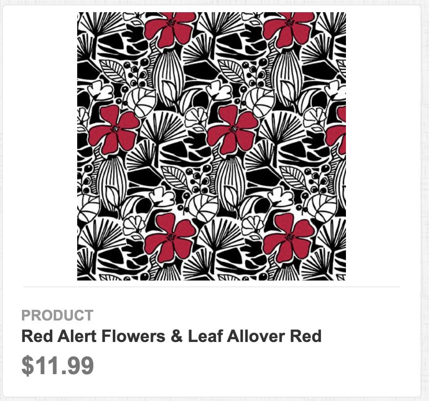 Red Alert Flowers & Leaf Allover Red