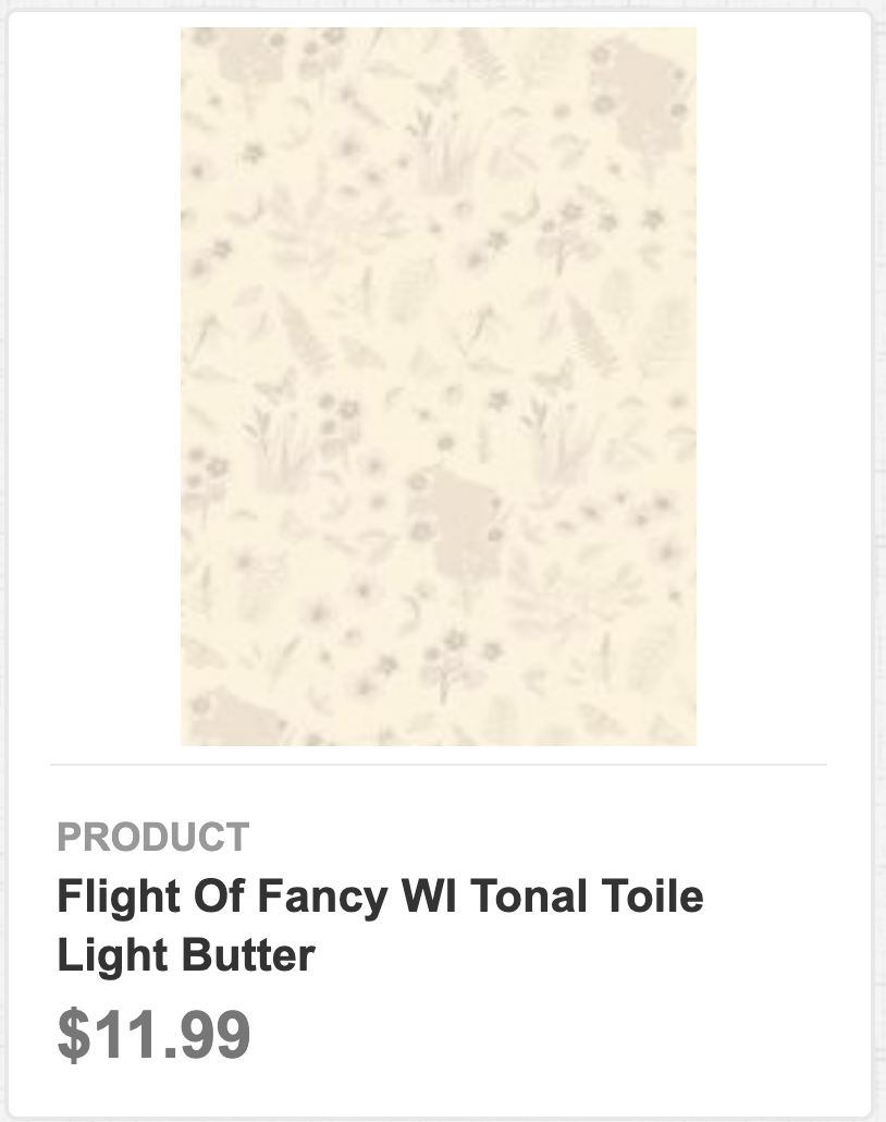 Flight of Fancy WI Tonal Toile Light Butter